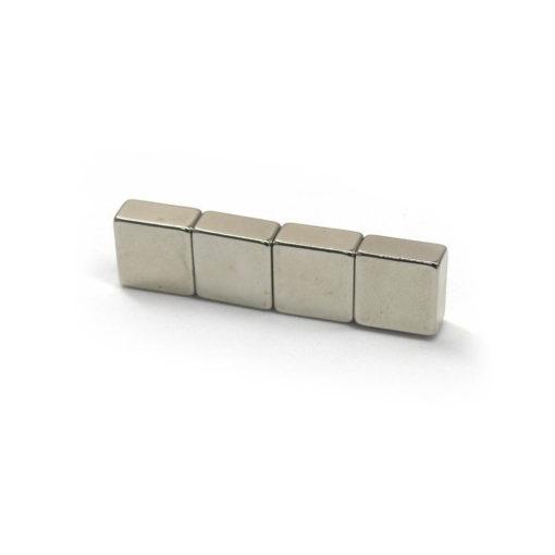 10x10x5mm Square Neodymium Magnets 4pcs