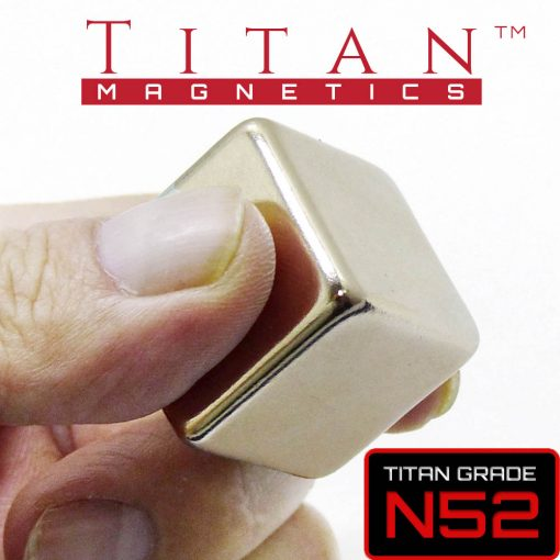 25mm Cube magnet N52 rounded edges