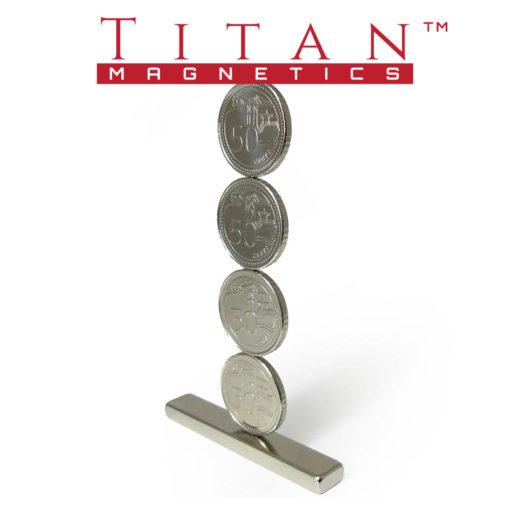 50 cents Coins on Neodymium Magnet
