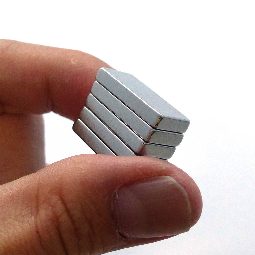 5pcs Stacked Super Strong Magnets-N35