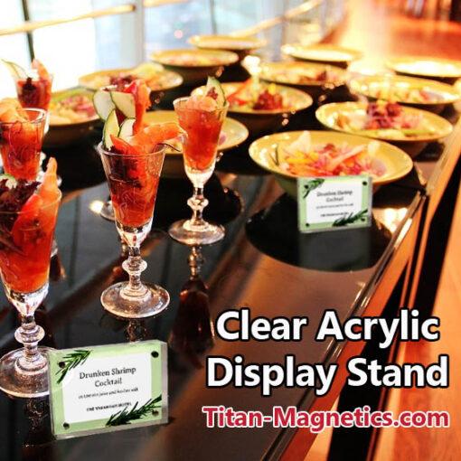 Clear Acrylic Food Dish Label Holder