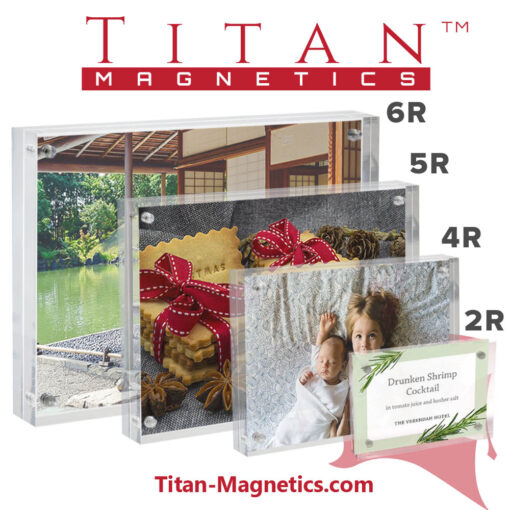 Acrylic Magnetic Photo Display Frames 6R, 5R, 4R, 2R sizes