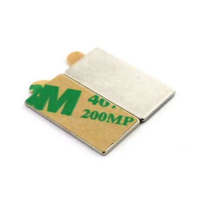 Adhesive Block Super Strong Magnets 20x10x1mm Pair