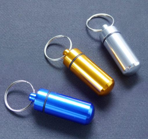 Aluminium-Pill-Container various colours
