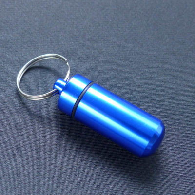 Aluminium Pill Case - Blue