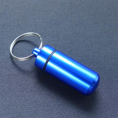 Aluminium Pill Case - Blue
