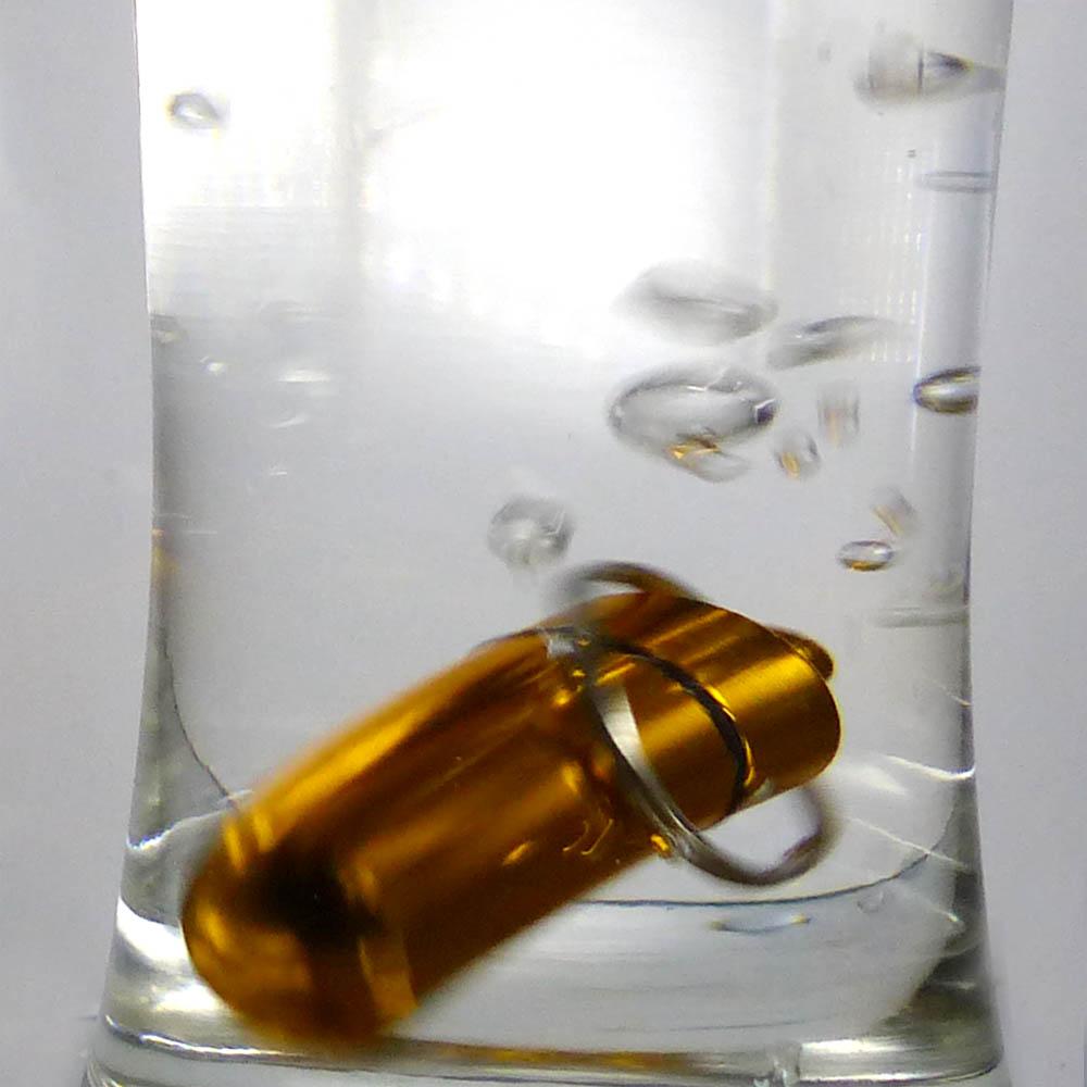 Water proof capsule case made from aluminium