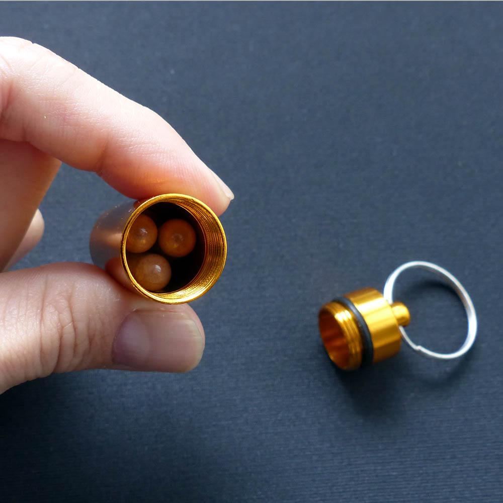 Aluminium Capsule Case-holds 3 capsules