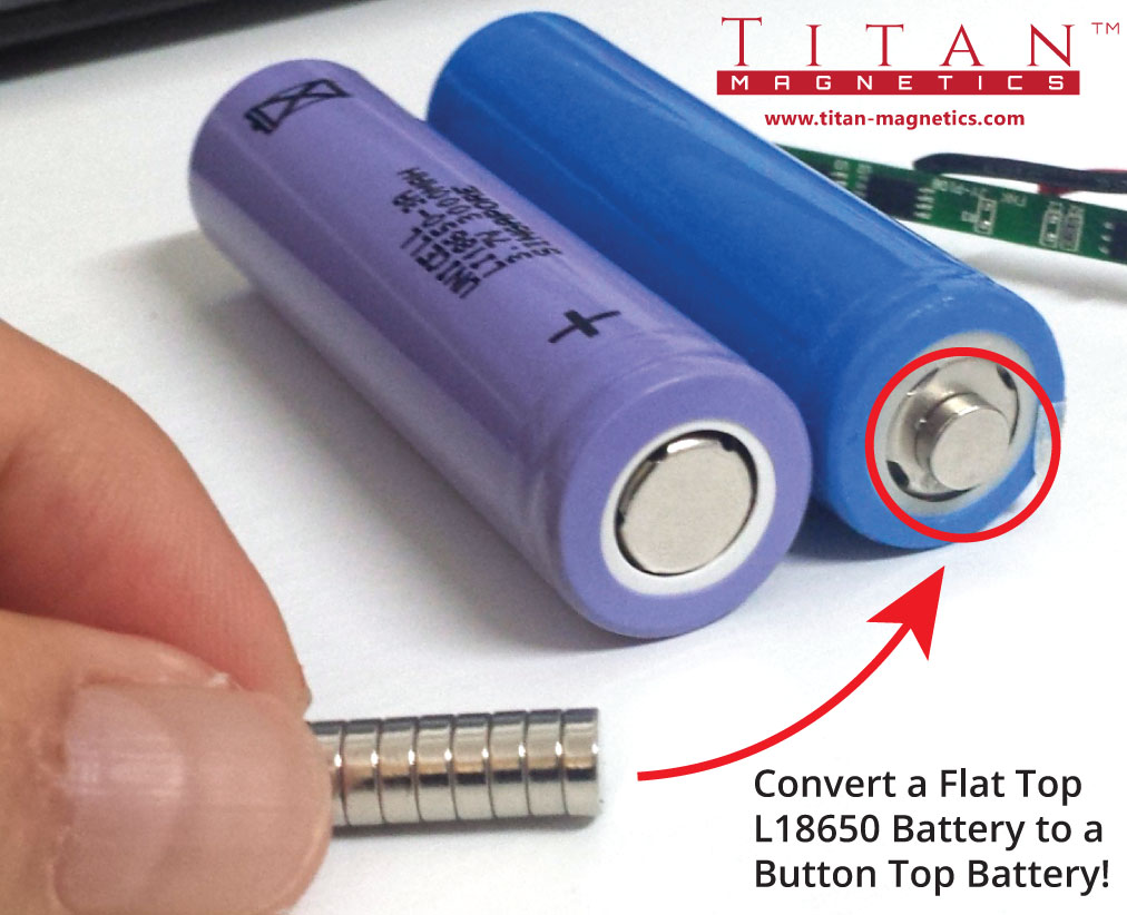Convert-L18650-Flattop-Battery-with-Magnets