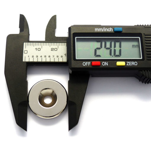 Countersunk Rare Earth Magnet OD24mm
