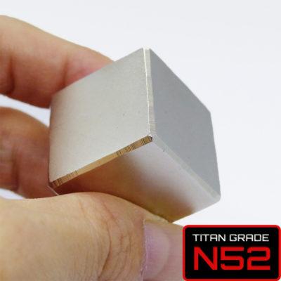 Cube Neodymium Magnet 25mm Grade N52