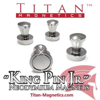 D16x20mm KingPin Junior 4pcs Strong Pin Magnets