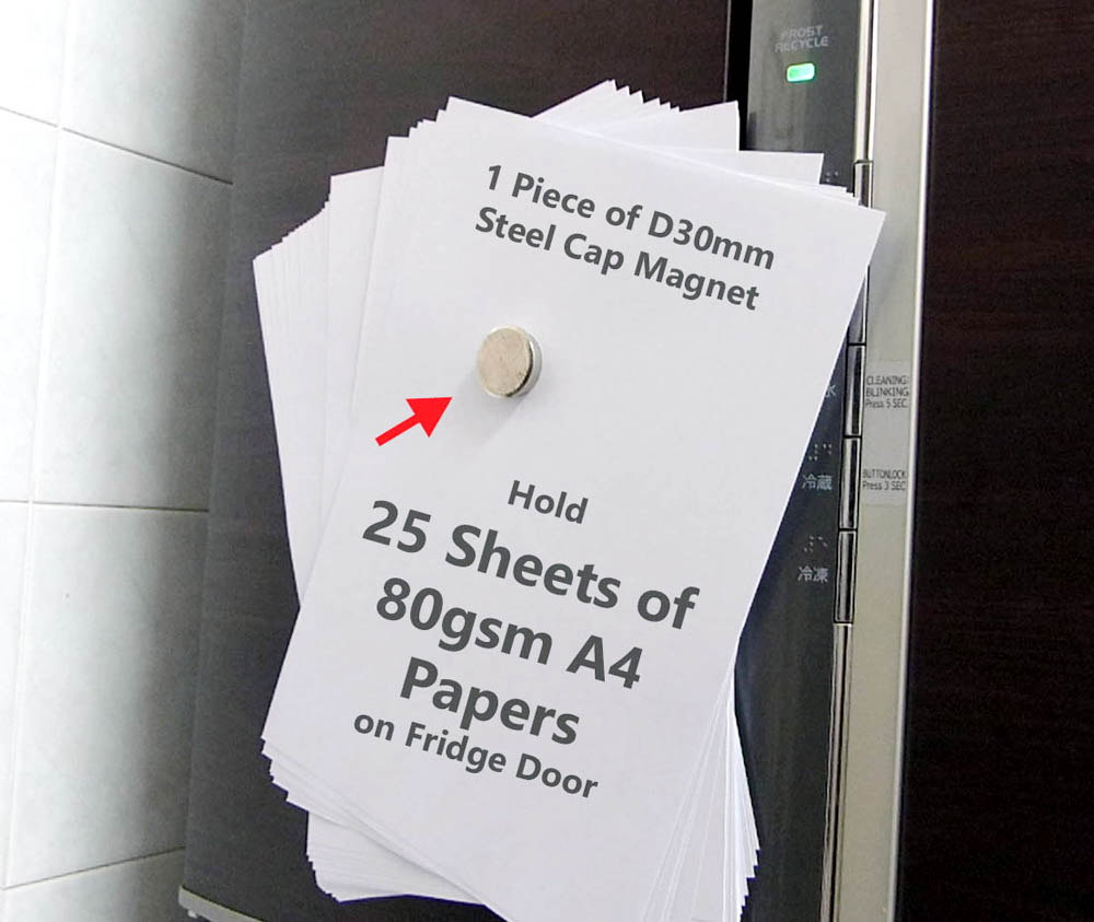 Dia.30 pin magnet holds 25sheets of A4 Size papers