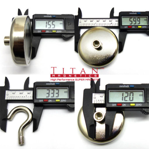 Dia 60mm Rare Earth Hook Magnet Specifications