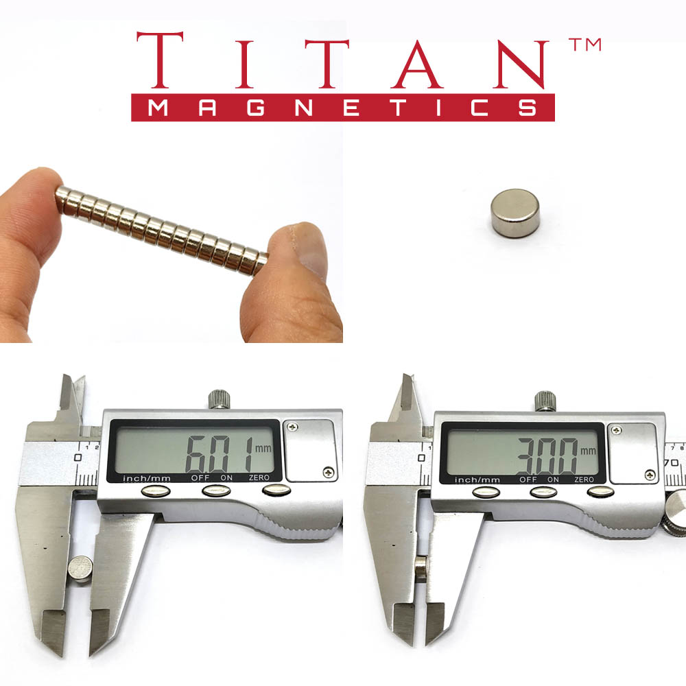 Dia. 6 x 3mm Rare Earth Magnets Specification
