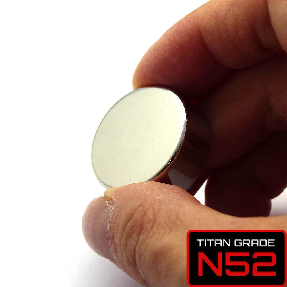 Disc NdFeB Magnet D25x10mm-N52