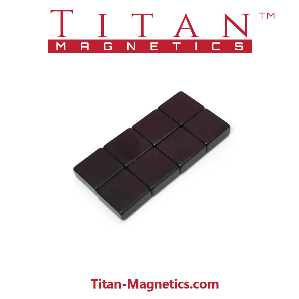Epoxy Coated 8x8x3mm N42 Neodymium Magnets 8pcs