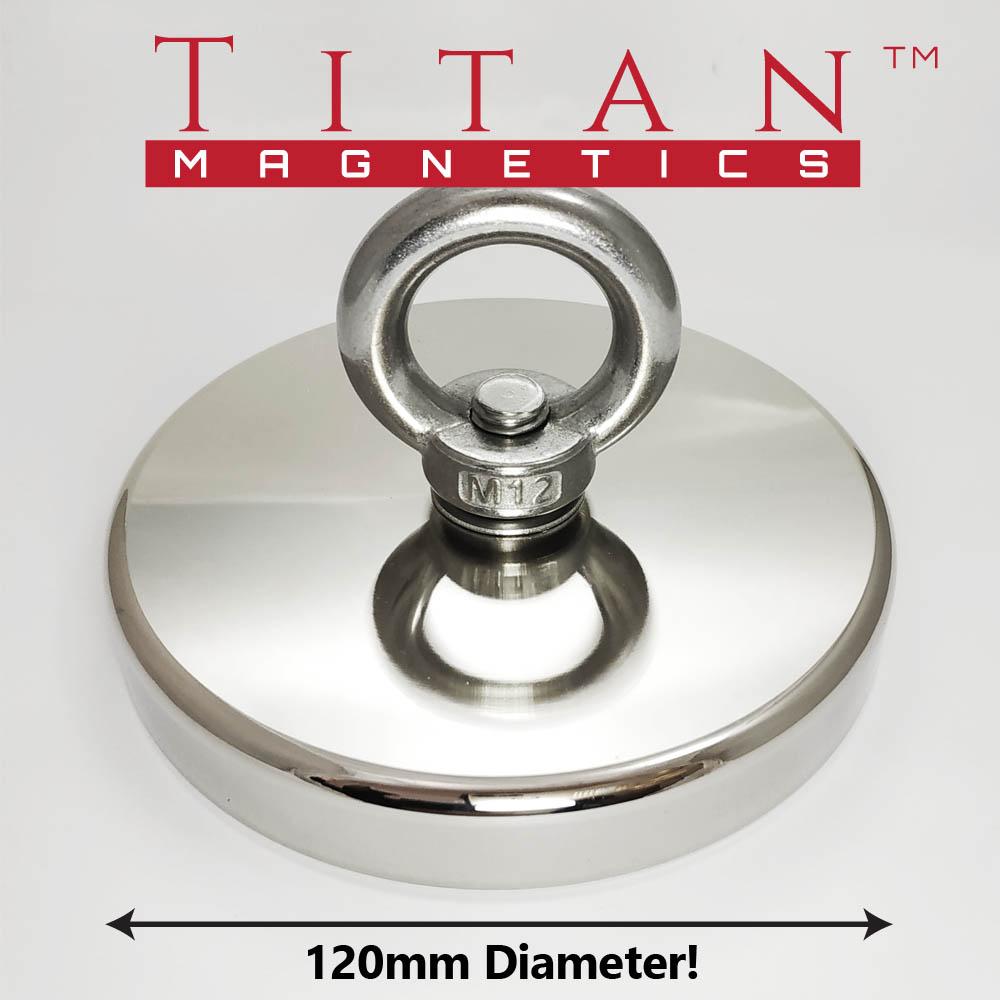 industrial Strength Eyelet Neodymium Magnet D120mm Awtra