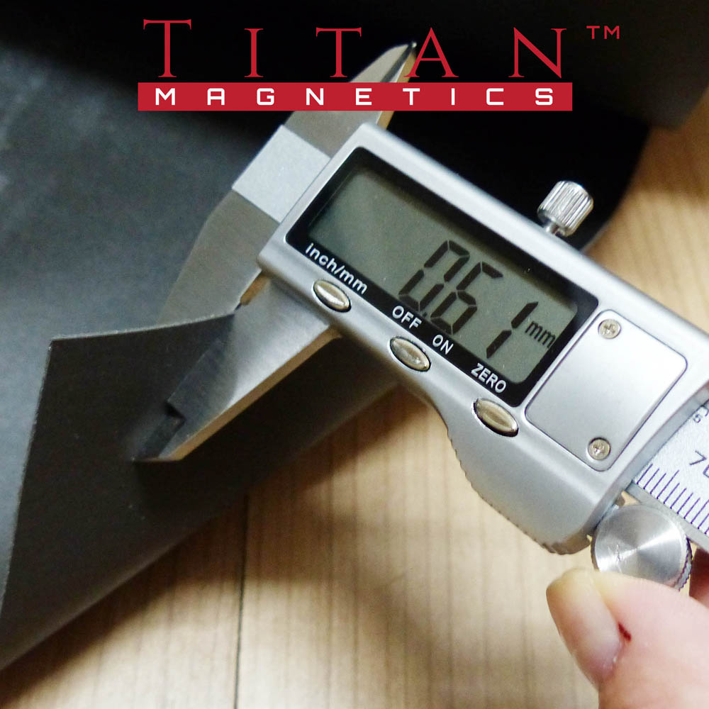 Flexible Iron Rubber Sheet 0.7mm Titan Magnetics
