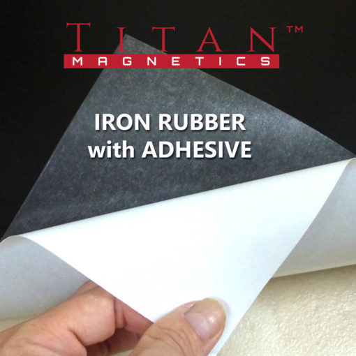 Flexible Iron Rubber with Adhesive for attaching magnets