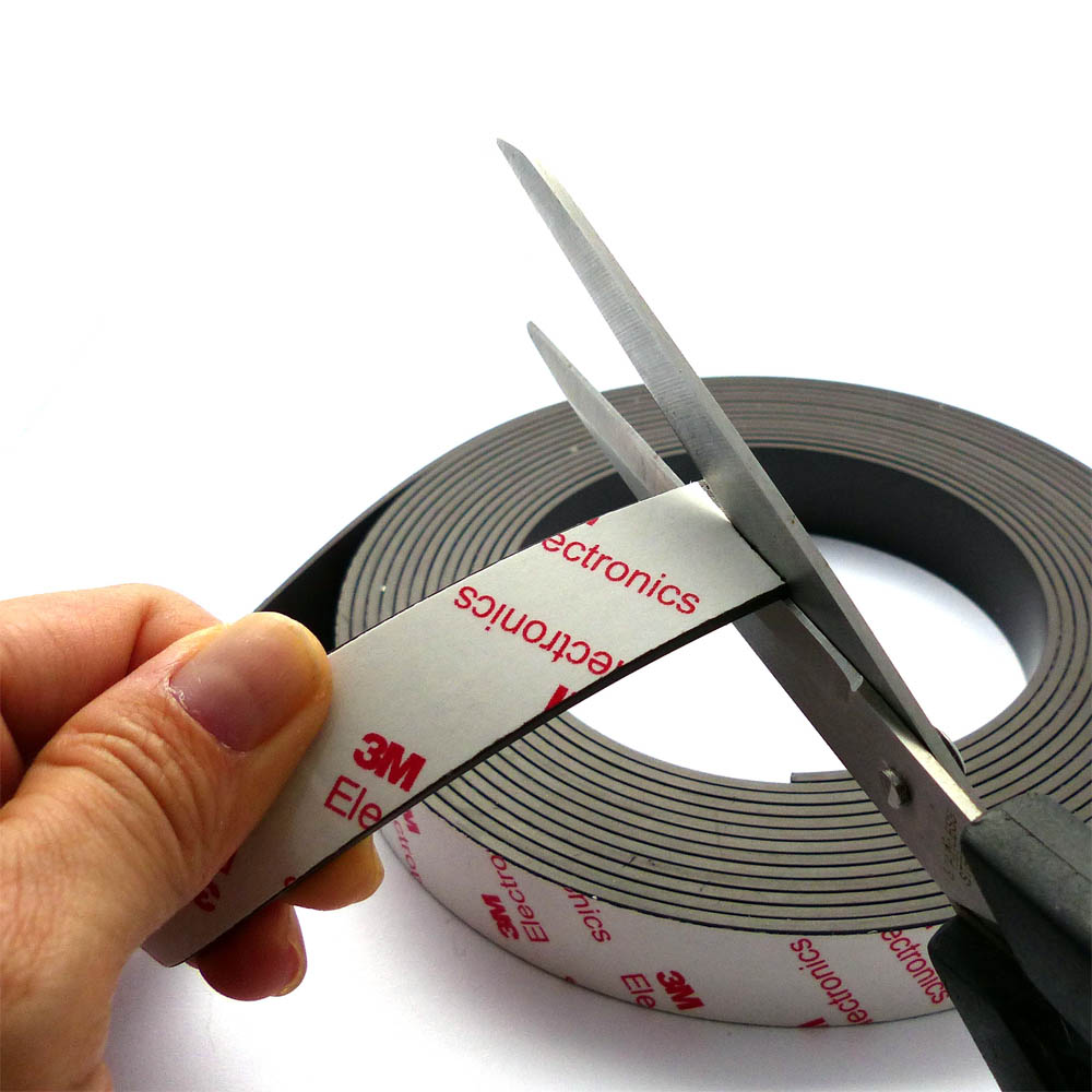 Flexible Magnet With 3m Adhesive 20mm X 2mm
