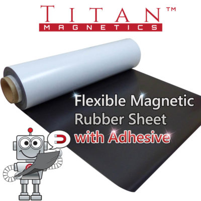 Flexible Magnetic Rubber Sheet with Adhesive