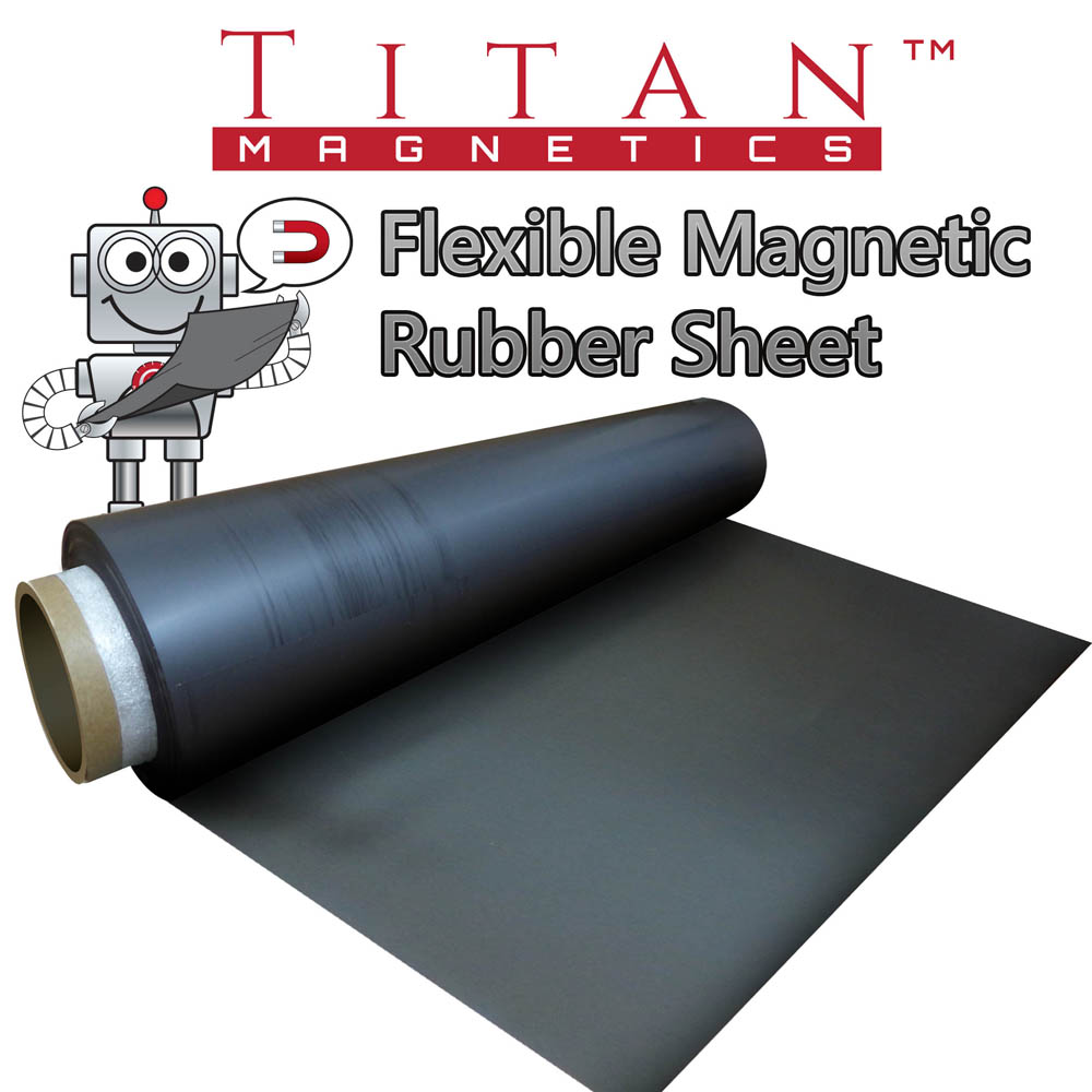 Flexible Magnetic Rubber Sheet 0 4mm Super Strong