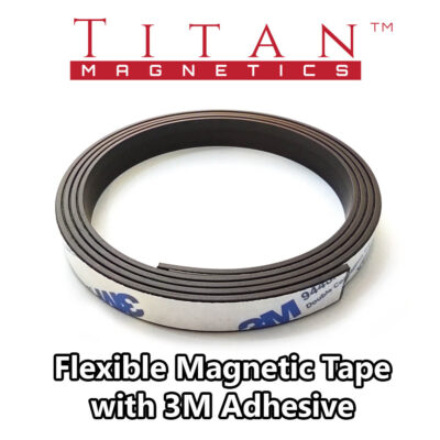 Flexible Magnetic Strip With 3M 9884A Adhesive 10mm width