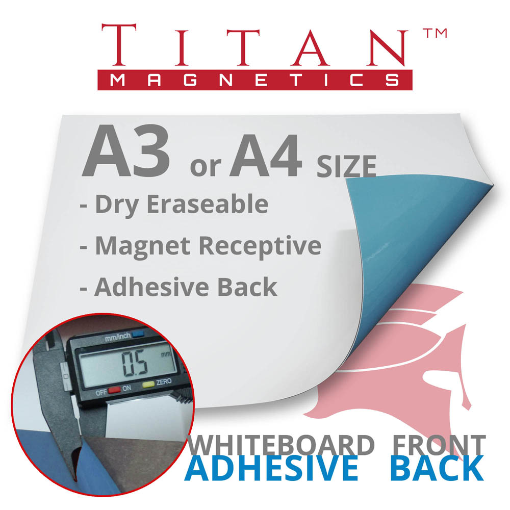 Flexible Magnetic Whiteboard Adhesive A3 A4 sheet