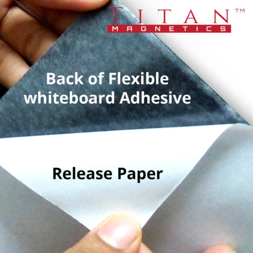 Flexible Magnetic Whiteboard Adhesive Backing