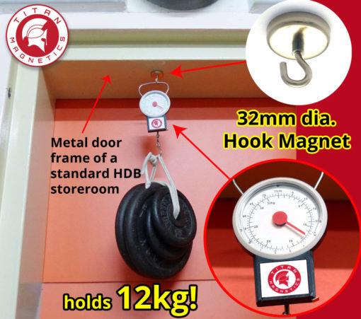 Neodymium Hook Magnets Holds 12kg