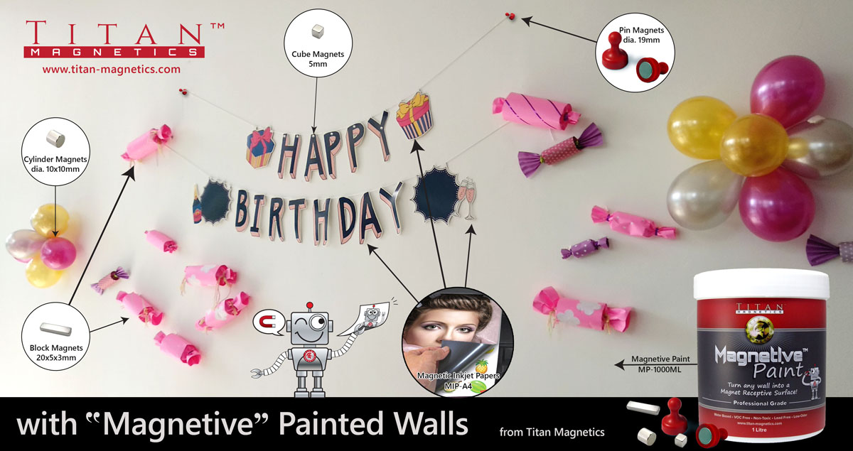 Magnetic Paint Wall Decorations - Titan Magnetics