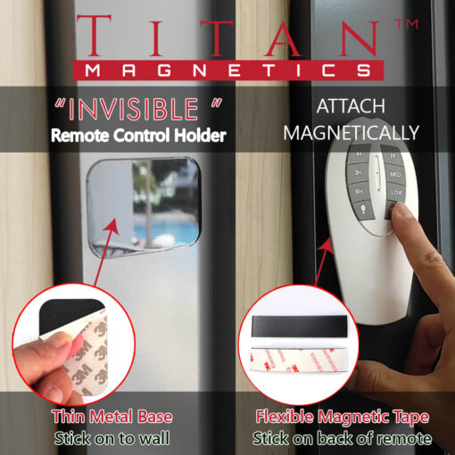 Invisible magnetic remote control holder set