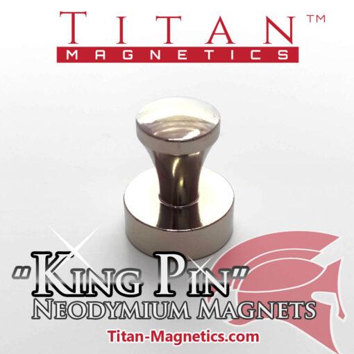 KingPin D20x25mm Neodymium Magnet in Steel