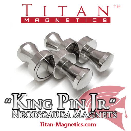 KingPin Jr 4pcs Steel Pin Magnets Neodymium
