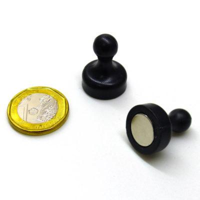 Large Neodymium Magnetic Glass Board Magnet Black