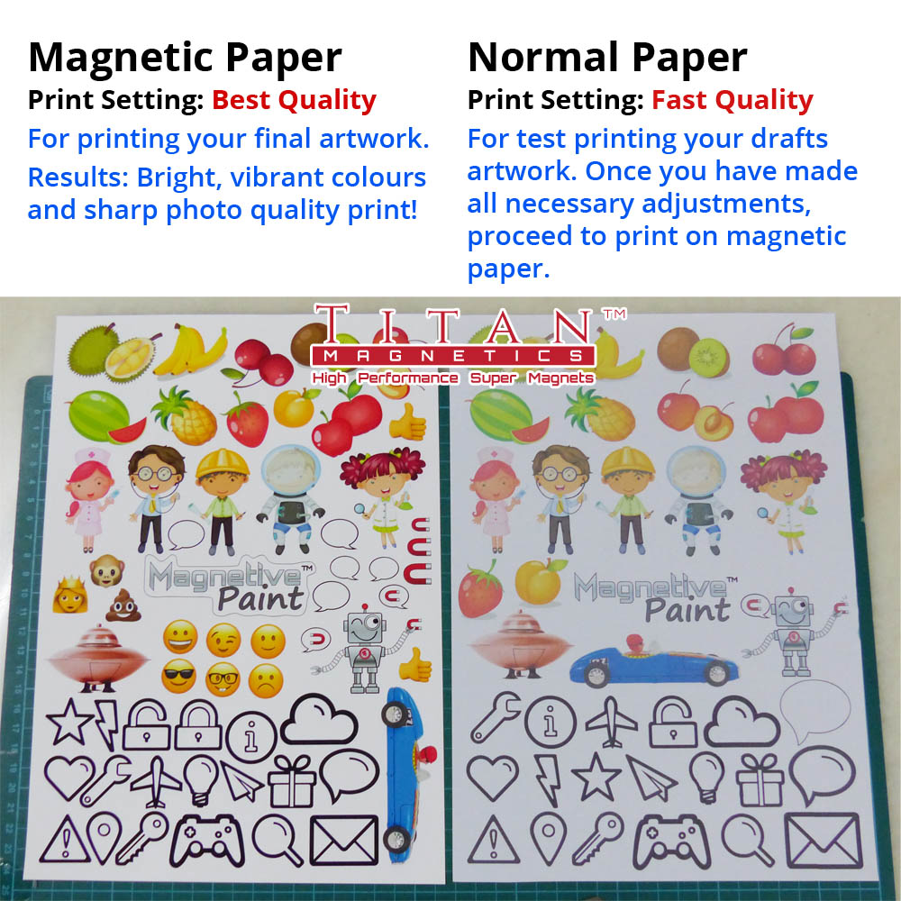 Magnet Inkjet Paper vs Normal Paper.