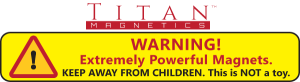 Magnet Warning Extremely Powerful Magnets - Keep away from children
