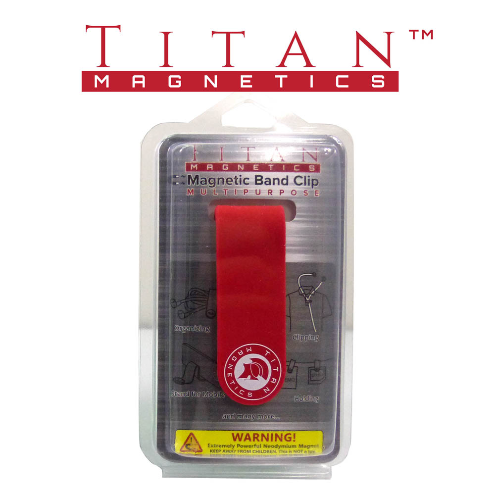 Magnetic Band Clip Mutipurpose Red