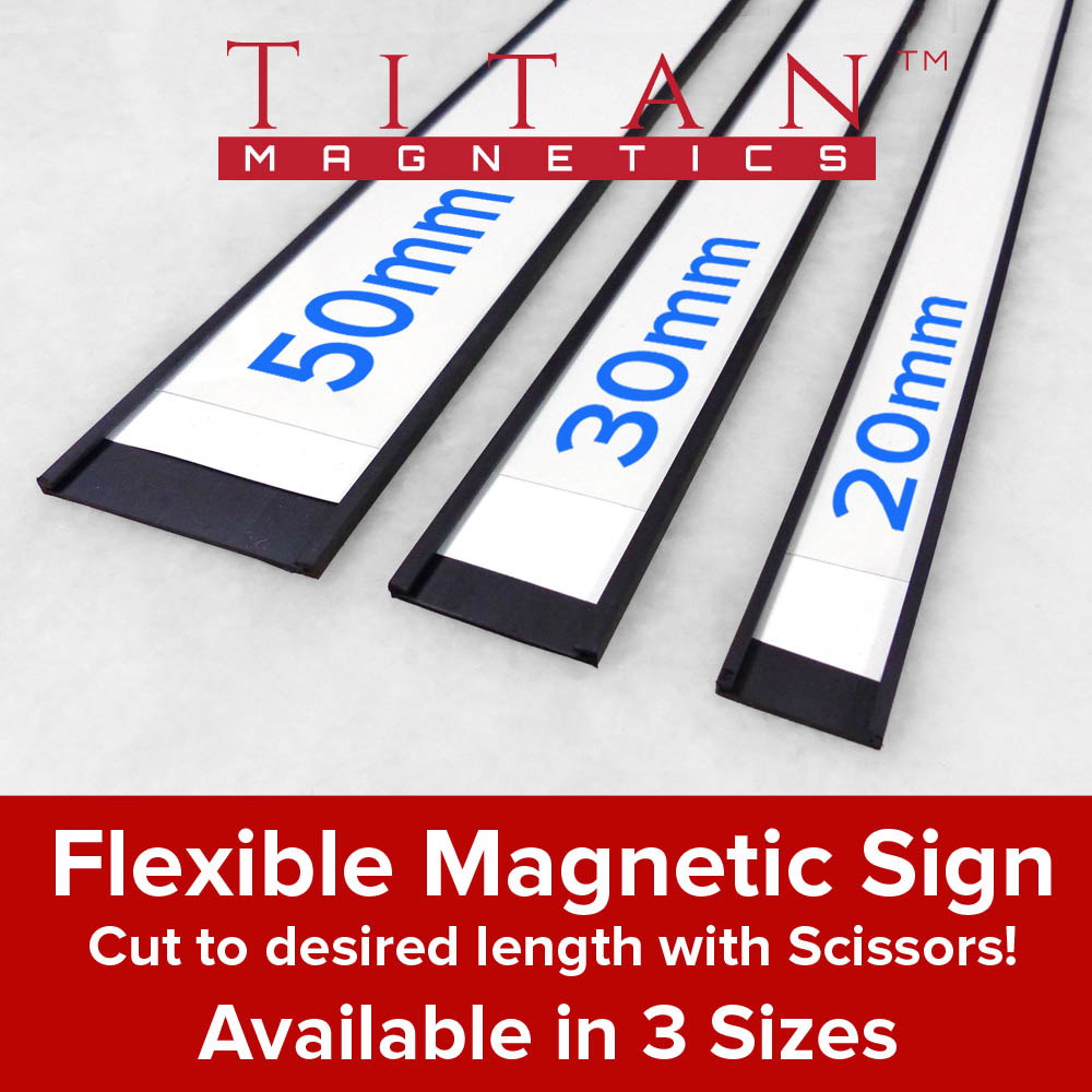 picture about Printable Magnetic Labels called Magnetic C-Profile Labels 1meter