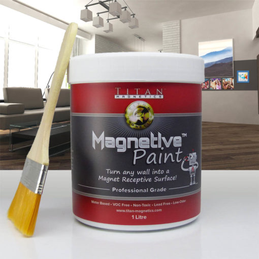 Magnetic Paint Primer Interior wall - Titan Magnetics Magnetive Series