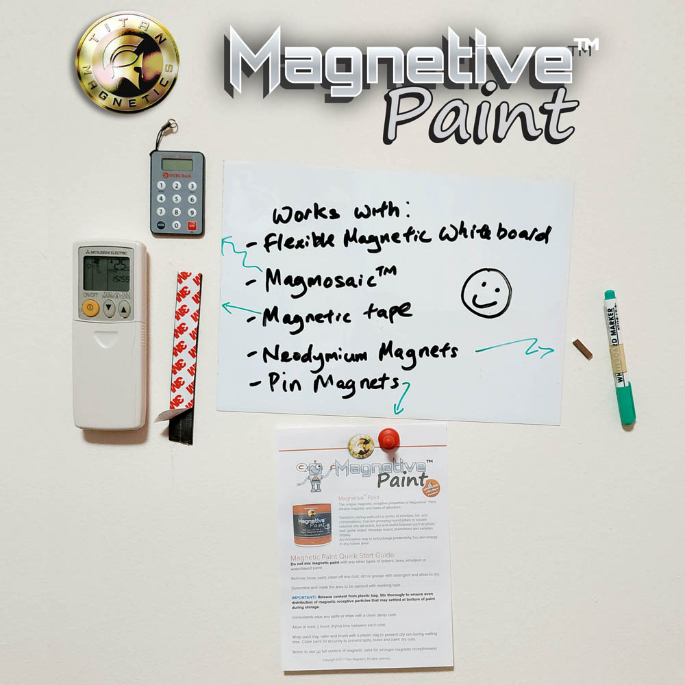 Magnetic Painted wall with objects