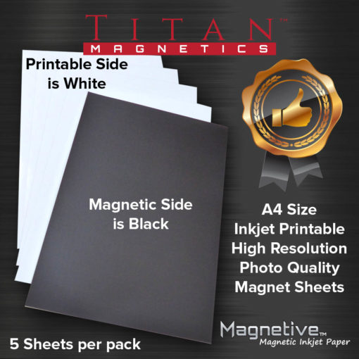Magnetic Inkjet Printable Papers A4 size