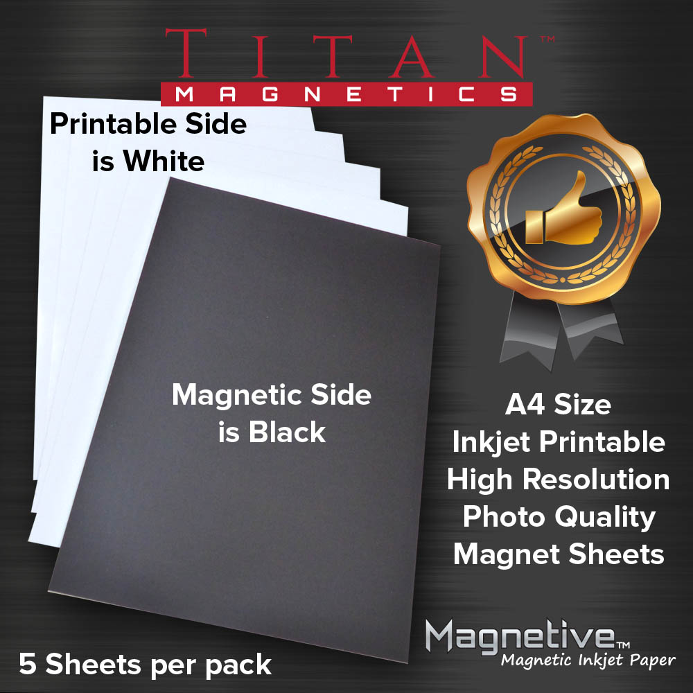photograph about Printable Magnetic Paper named Magnetic Inkjet Paper A4