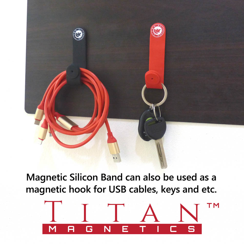 Magnetic Silicon Hook For Cables Keys