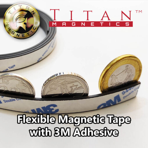 Rubber Magnetic Strip With 3M Adhesive 10x1-5mm