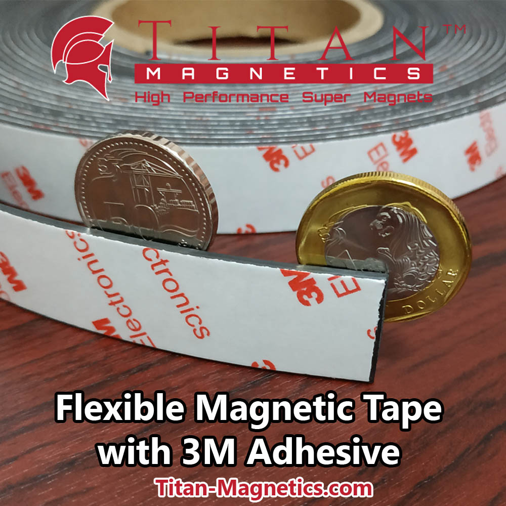 Magnetic Tape With 3M Adhesive 20mm width x2mm thick