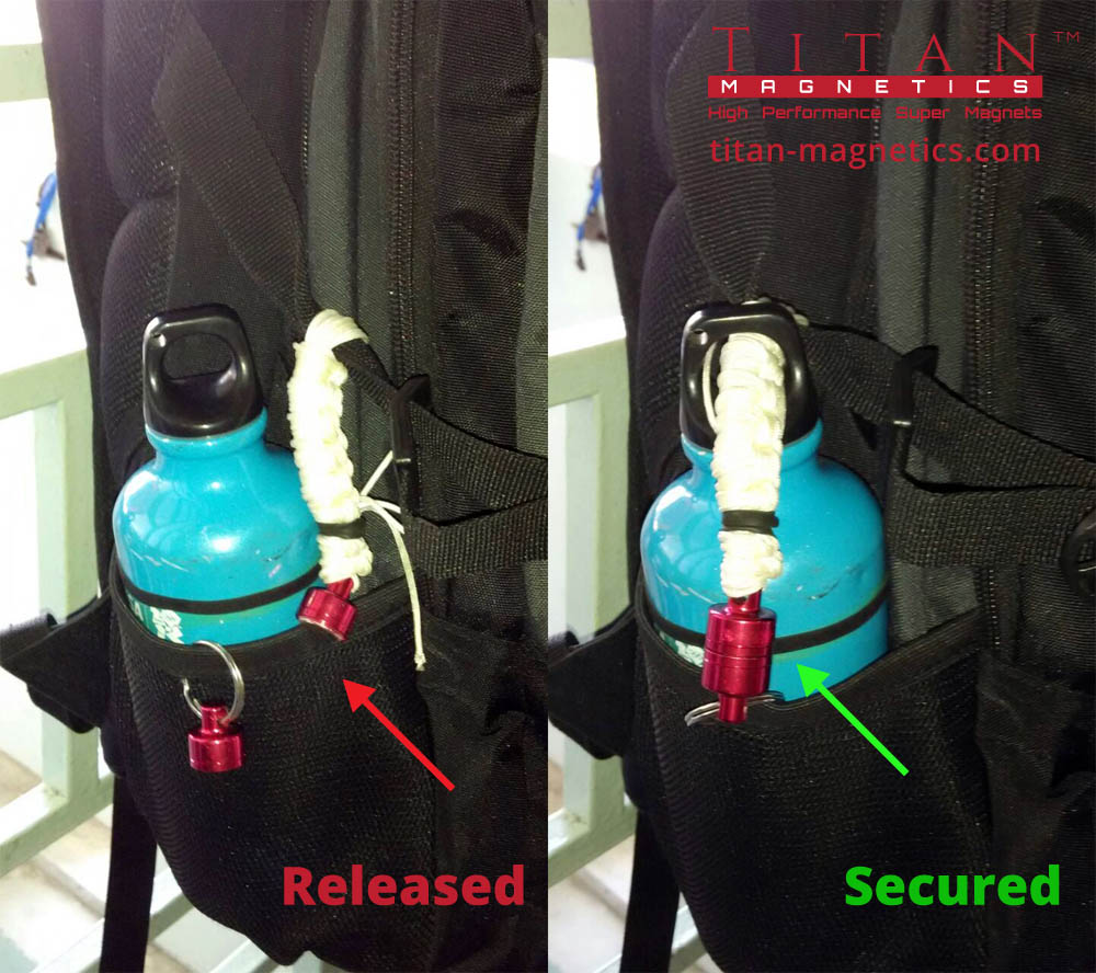 Magnetic Quick Release Secure Water Bottle