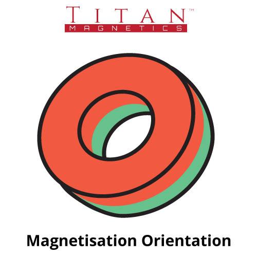Magnetisation Direction Ring Magnet