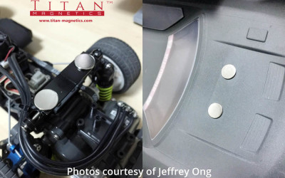 Disc Neodymium Magnets for Securing Radio Control Car Shell